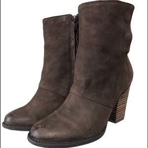 Aldo Leather Distressed Brown Ankle Boots Sz 6.5